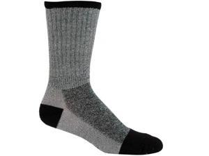 Elder 431005 Merino Wool Sock - Black-Grey Medium