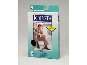 Jobst 115089 Mens 20-30 mmHg Closed Toe Knee High Support Socks - Black Medium