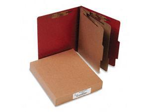 Acco 15036 Pressboard 25-Point Classification Folder  Ltr  6-Section  Earth Red  10/bx