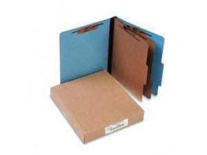 Acco 15662 Presstex Colorlife Classification Folders  Letter  6-Section  Lt BE  10/box