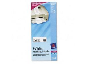 Avery 2160 Mini-Sheets Laser/Ink Jet Labels  1 x 2-5/8  White  200 Pack