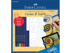 Alvin FC800122 Circles and Swirls Watercolor Canvas Art Kit