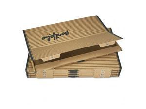 Safco 3009TS Fiberboard Portfolio w/Metal Turnbuckles, 1-1/8'' Cap, 42-1/4 x 30-1/4, Sand/BLK