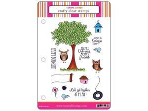 Alvin CCM028 Crafty Clear Stamp Set - Swingin By