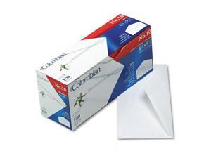 Mead Westvaco CO196 Gummed Flap Business Envelope  V-Flap  #10  White  100/box