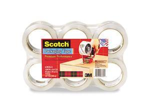 "Scotch 3850-6 3850 Heavy Duty Tape Refills- 1.88"" x 54.6 yds- 3"" Core- Clear- 6/Pack"