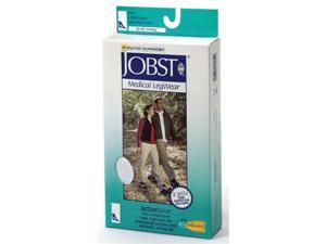 Jobst 110491 ActiveWear 20-30 mmHg Firm Support Unisex Athletic Knee Highs - Size & Color- Cool White Large