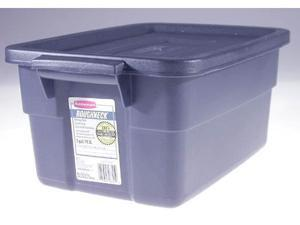 Rubbermaid 3 Gallon Dark Indigo Metallic Roughneck Storage Box  FG221300DIM - Pack of 12