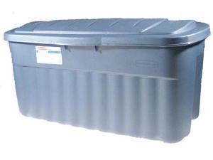 Rubbermaid 40 Gallon Roughtote Jumbo Storage Box FG2547CPDIM - Pack of 8