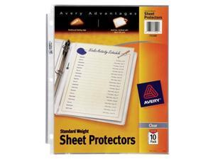Avery 10 Pack Clear Standard Weight  Reference Sheet Protectors  PV-10P 75540