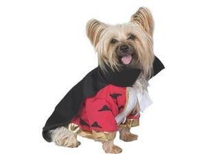 Seasons 32653 Deluxe Vampire Pet Costume Size Small 10-14