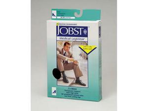 Jobst 115372 Mens 0-30 mmHg Open Toe Knee High Support Socks - Size & Color- Black Large Full Calf