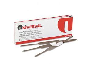Universal 81004 Self-Adhesive Paper And File Fasteners  2   Capacity  100 per Box
