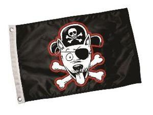 Hunter K9 Designs 4300 Pirate Dog Flag - Black