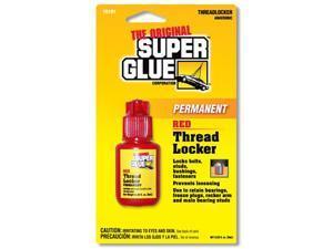 Super Glue Corp. 15191-12 Threadlocker Permanent Red- Pack of 12