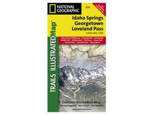 National Geographic TI00000104 Map Of Idaho Springs-Loveland Pass - Colorado