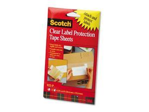3M 822P Heavyweight 4 x 6 Clear Label Protector Tape Sheets  Two 25 Sheet Pads Pack