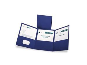 Esselte Pendaflex 59802 Tri-Fold Folder With 3 Pockets  Holds 150 Letter-Size Sheets  Blue