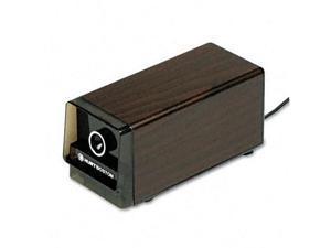 X-ACTO 1716 Heavy-Duty Desktop Electric Pencil Sharpener- Walnut Grain