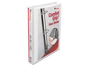 Universal 30712 Comfort Grip Deluxe Plus D-Ring View Binder, 1'' Capacity, White