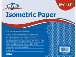 Alvin 1242-3 Isometric Paper 8.5x11-500shts
