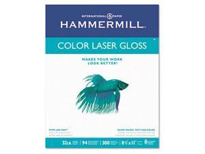 Hammermill 163110 Color Laser Gloss Paper  94 Brightness  32lb  Letter  White  300 Sheets per Pack