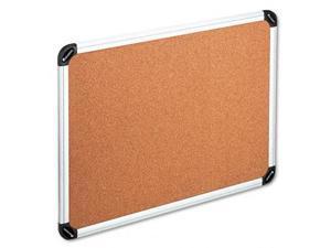 Universal 43713 Bulletin Board  Natural Cork  36 x 24  Aluminum Frame