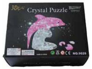 Creative Motion Industries 13239 3 D Pink Crystal Dolphin Puzzle