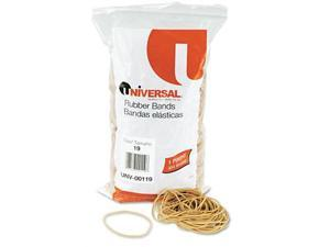 Universal 119 Rubber Bands, Size 19, 3-1/2 x 1/16, 1240 Bands/1lb Pack