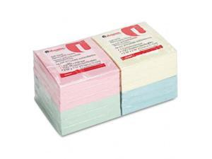 Universal 35669 Standard Self-Stick Notes  3 x 3  4 Pastel Colors  12 100-Sheet Pds Pack
