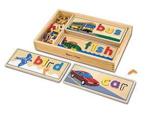 Melissa & Doug LCI2940 64 Colorful Wooden Letters See and Spell