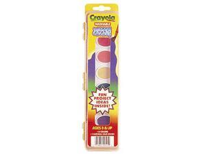 CRAYOLA LLC FORMERLY BINNEY & SMITH BIN525 WASHABLE WATER COLORS 8 WITH BRUSH