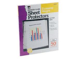 CHARLES LEONARD CHL48185 TOP LOADING SHEET PROTECTORS REDUC-ED GLARE