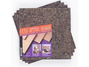 Acco Brands 4 Pack 12in. X 12in. X .25in. Dark Cork Tiles  15050Q - Pack of 4