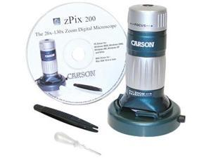 Carson zPix 200 34x-168x Zoom USB Digital Microscope MM-740