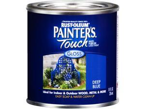 Rustoleum Half Pint Deep Blue Painters Touch Gloss Multi Purpose Paint 224423 - Pack of 6