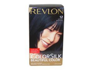 Revlon U-HC-1943 ColorSilk Beautiful Color No.12 Natural Blue Black - 1 Application - Hair Color