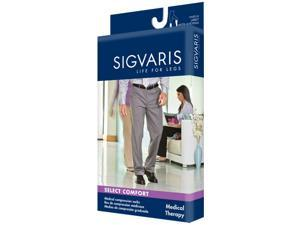 Sigvaris 863CL1M99/S 860 Select Comfort 30-40 mmHg Mens Closed Toe Knee Highs with Silicone Grip top - 863C - Size- L1, Color- ...