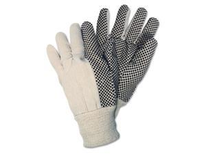 Crews 8808 Dotted Canvas Gloves, White, Dozen