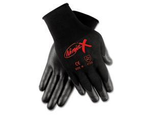 Crews N9674L Ninja X Bi-Polymer Coated Gloves, Large, Black