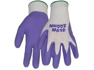 Boss Gloves Medium Vibrant Violet Muddy Mate Premium Gloves 9403VM