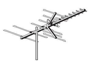 AntennaCraft HBU22 70 Boom HBU Series Antenna for UHF and High-Band VHF - 50 to 55 Mile Range