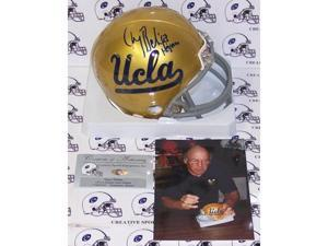 Creative Sports Enterprises AMHUB-BEBAN-HEIS Gary Beban Hand Signed UCLA Bruins Mini Helmet