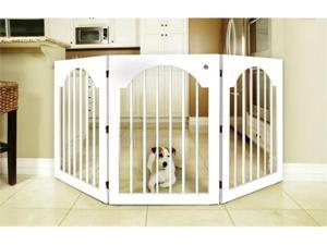 Majestic Pet 788995041122 Universal Free Standing Pet Gate Wood Insert and White