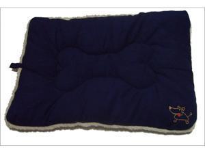 Best Pet Supplies MT862XL Pet Crate Mat in Navy Blue Faux Suede - X-Large