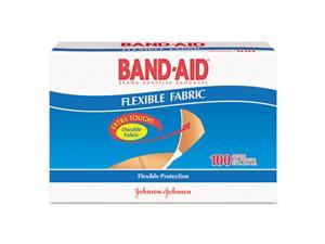 BAND-AID 4434 Flexible Fabric Premium Adhesive Bandages- 3/4 x 3- 100/Box