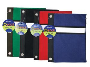 Bazic 801-24 Assorted Color 3-Ring Pencil Pouch- Pack of 24