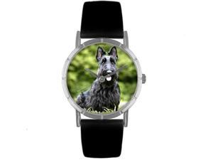 Scottie Black Leather And Silvertone Photo Watch #R0130067