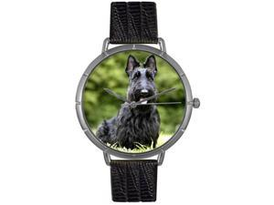 Scottie Black Leather And Silvertone Photo Watch #T0130067