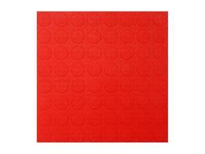Auto Care Products 12005 Red Coin Pattern Style Tile- case of 40- 12 in. x12 in. Interlocking Tiles